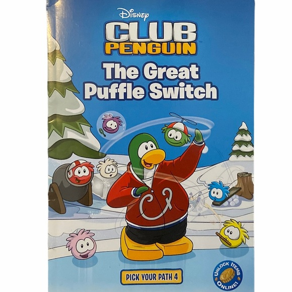✨3 for $12✨Club Penguin Puffle Switch Book